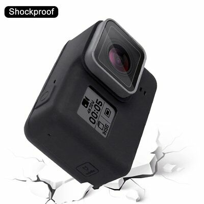 PULUZ Camera Silicone Protective Case with Lens Cover for Gopro Hero 5 Bl ll