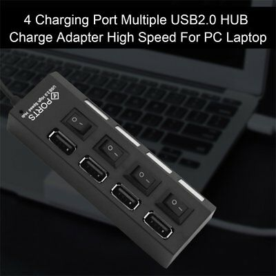 4 Ports Multiple USB2.0 HUB Splitter Adapter High Speed For PC Laptop AB