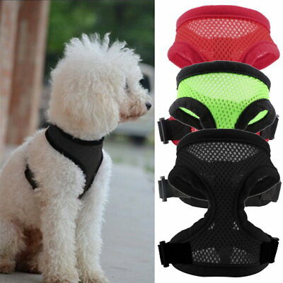Pet Harness Collar Leash Strap Mesh Dog Cat Adjustable Vest Breathable PupR1