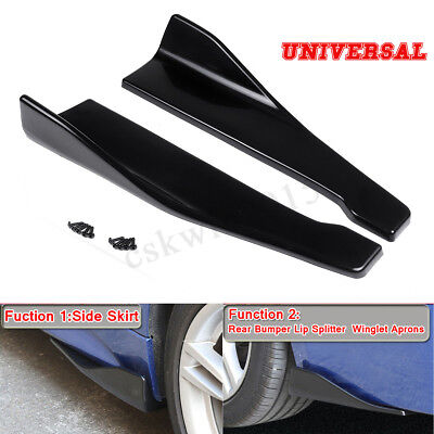 Rear Bumper Lip Winglets Extensions / Side Skirts For BMW Ford Audi VW Mercedes