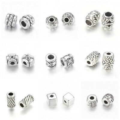 Tibetan Style Alloy Bead Spacers Antique Silver Jewelry Findings Accessories