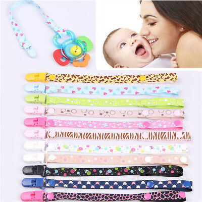 Unisex Infant Baby Dummy Pacifier Holder Clip Strap Dummy Nipple Lanyard Chain