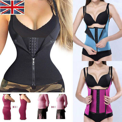 Hot Sweat Sauna Body Shaper Women Slimming Vest Thermo Neoprene Waist Trainer UK