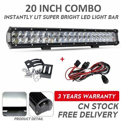 20inch Combo CREE LED Work Light Bar TRI ROW Offroad 12V 24V ATV 4x4WD Truck 23""