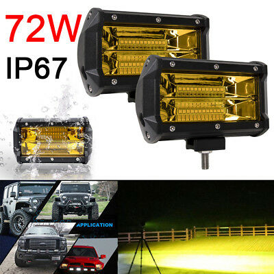 5 inch 72W Spot LED Light Bar Car Work Lamp Off Road SUV Boat Truck Driving Lamp