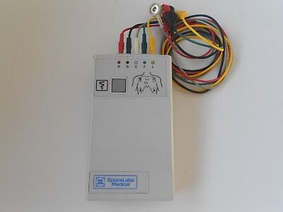 Spacelabs Digital Telemetry Transmitter 90341-50 Ch.No.428.+ Cables Free UK P&P.