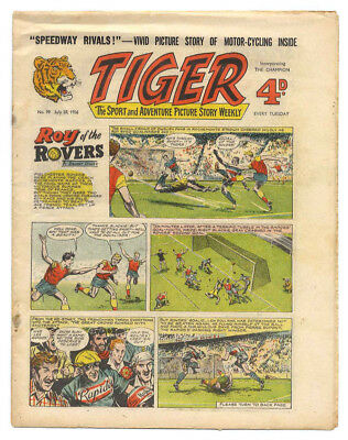 Tiger 28th July 1956 (Roy of the Rovers, Rockfist Rogan, Speedway Rivals)