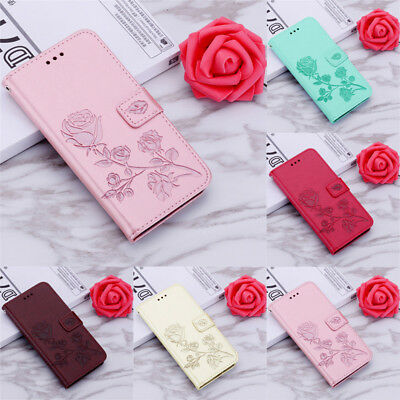 For Samsung Galaxy A9 A8 A7 A6 + A5 2018 Magnetic Flip Leather Wallet Case Cover