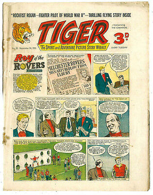 Tiger 24th Sept 1955 (Roy of the Rovers, Rockfist Rogan, Lightning Lorant)