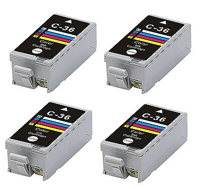 4 INK CARTRIDGE CLI-36C CLI-36 FOR CANON CLI-36 IP100 IP10 COLOR colour ip110b
