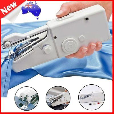 Mini Portable Handheld Cordless Sewing Machine Hand Held Stitch Home Clothes AHZ