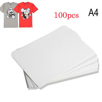 100PCS A4 Sublimation Iron On Heat Transfer Paper for inkjet Printer Mug T-shirt