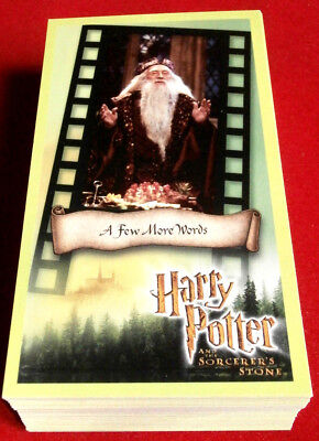 HARRY POTTER - SORCERER'S STONE - COMPLETE BASE SET, 81 trading cards, WIZARDS