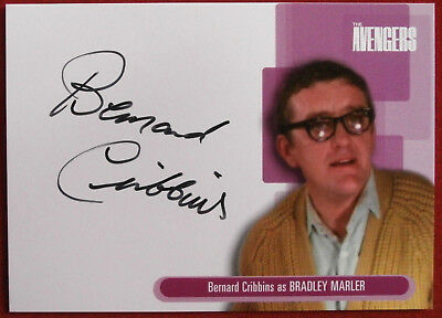 THE AVENGERS - Bernard Cribbins - Autograph Card - Strictly Ink, Series One, A10