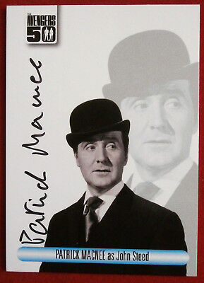 THE AVENGERS 50th - Patrick MacNee - Autograph Card - Unstoppable 2012 AV1