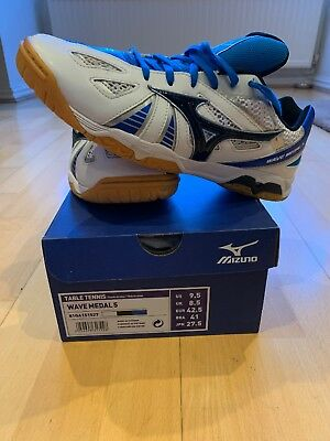 Mizuno Wave Medal 5 Table Tennis Shoes Trainers Uk 8.5 Blue