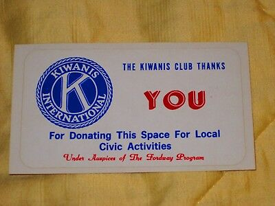 Ford Gumball Gum Machine Marquee Topper Label  -  Kiwanis Club  -  Sticker Decal