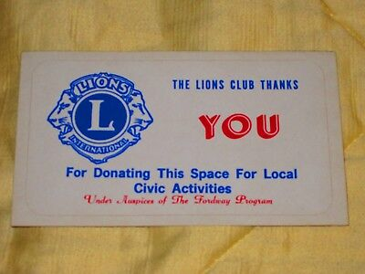 Ford Gumball Gum Machine Marquee Topper Label  -  Lions Club  -  Sticker Decal