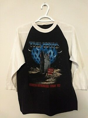 The Who 1982 North American Tour Baseball Tee M
