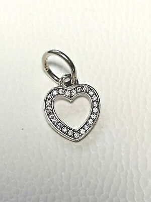 Heart Dangle Charm Pendant Genuine Sterling Silver 925 Mum Daughter Sister Wife