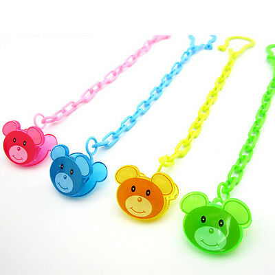 Cartoon Baby Dummy Pacifier Soother Nipple Chain Clip Buckle Dummy Holder FWCA