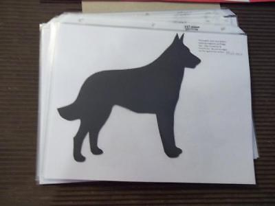 Belgian Malinois stacked Car Magnet Hand Cut & Painted U pick style color