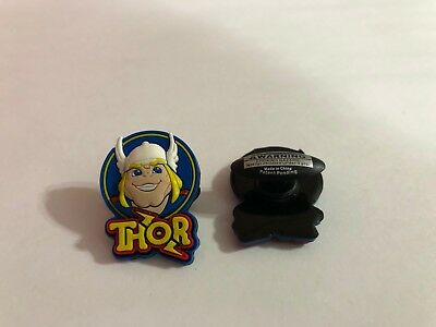 Thor Head Figure Shoe-Doodle Goes in holes Rubber Shoes or Crocs Charm SPDR2019