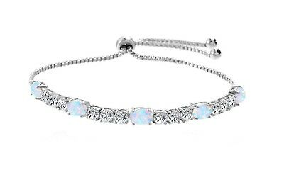 Tennis Bolo Bracelet Gold Plated Real Crystals  0.20ct Handmade Slider Clasp