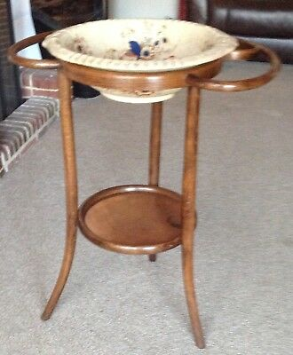 Bentwood Wash Stand And Bowl