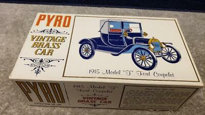 Vintage 1967 PYRO Vintage Brass Car #1 1915 Model T Ford Coupel 1:32 Scale Boxed