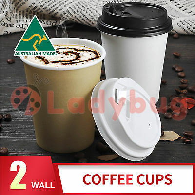 Disposable Coffee Cups 8oz 12oz 16oz Takeaway Paper Double Wall Take Away Bulk