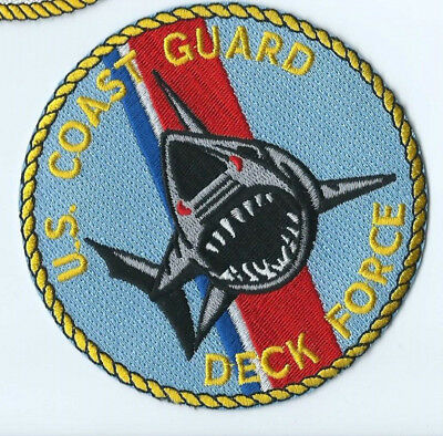 USCG United States Coast Guard patch Deck Force 4 inch dia