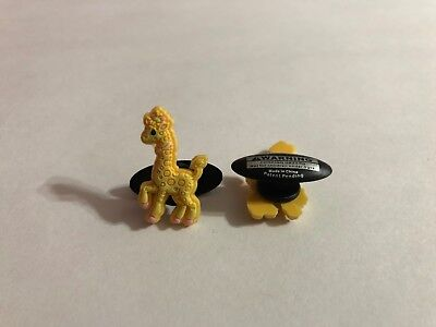 Yellow Giraffe Shoe-Doodle goes in Rubber Shoes or Crocs Shoe Charm PMI3011