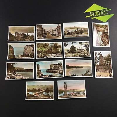 LOT x13 VINTAGE c.1940's HOBART TASMANIA PHOTOGRAPHS BUILDINGS CARS ADVERTISING