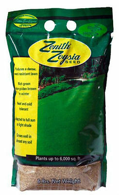 (On Backorder) Zenith Zoysia Grass Seed 100% Pure Seeds - 6 Lbs