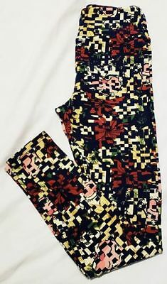 6bae416f3adae5 Lularoe Leggings Os One Size Christmas Santa Clause Red Blue Green Yellow  White
