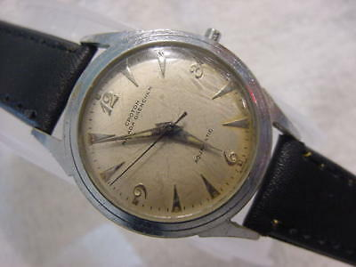 Vintage large antique DIVER CROTON NIVADA GRENCHEN AQUAMATIC mens watch