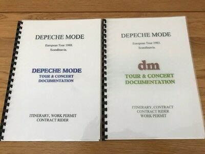 Depeche Mode tour intinerary 80s  x 2 binded copies
