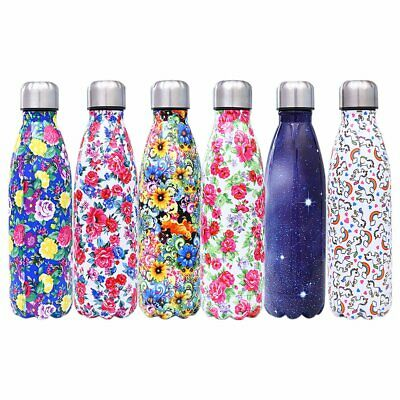 Stainless Steel Vacuum Insulated Water Bottle Flask Thermal Sports Chilly EA