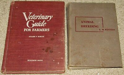 Vintage Veterinary Guide for Farmers 1950 + Animal Breeding  1952