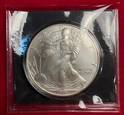 CC&C 1999 American Silver Eagle - BRILLIANT UNCIRCULATED  - SHIPS FREE!