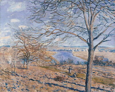 Alfred Sisley Banks Of The Loingautumn Effect Giclee Paper Print Poster