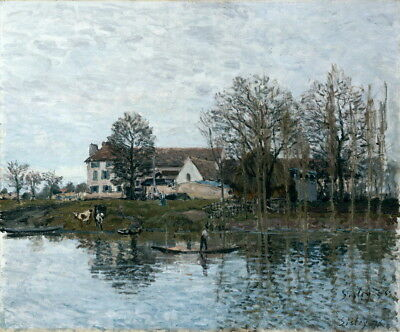 Alfred Sisley The Seine at Port-Marly Giclee Art Paper Print Poster Reproduction