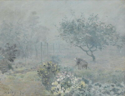 Alfred Sisley Fog Voisins Giclee Art Paper Print Paintings Poster Reproduction