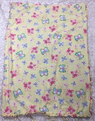 Pottery Barn Kids Butterfly Floral Crib Size Toddler Duvet Cover Yellow Nursery