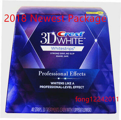 1 Box Crest3D White Luxe Professional Blanchiment Dentaires 20sachets/40 bandes