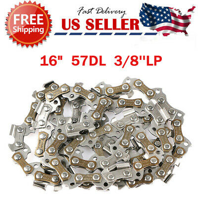Chainsaw Chain Blade Replacement 16 Inch 56 Links 3//8 LP .050 Gauge 56DL Steel