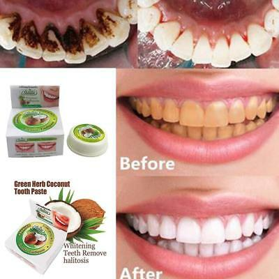 10g Coconut Oil Toothpaste Herbal Natural, Clove, Mint, Teeth-Whitening
