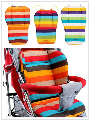 Waterproof Rainbow Baby Car Seat Liner Padding Pram Stroller Cushion-Pad