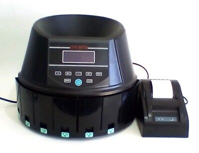 AUSCOUNT COIN COUNTER  AUS960 WITH PRINTER EXTRA QUICK up to 300 coins per min.